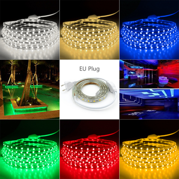 1M 2M 5M 10M 20M 25M 220V Flexible light strip SMD5050 LED Strip Light Outdoor Waterproof RGB warm white SMD