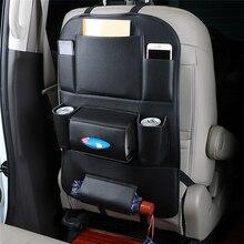 รถที่นั่งOrganizer Universal PUหนังกระเป๋ากันน้ำหลายพ็อกเก็ตแขวนกระเป๋าAutoภายในArrangementอุปกรณ์เสริม