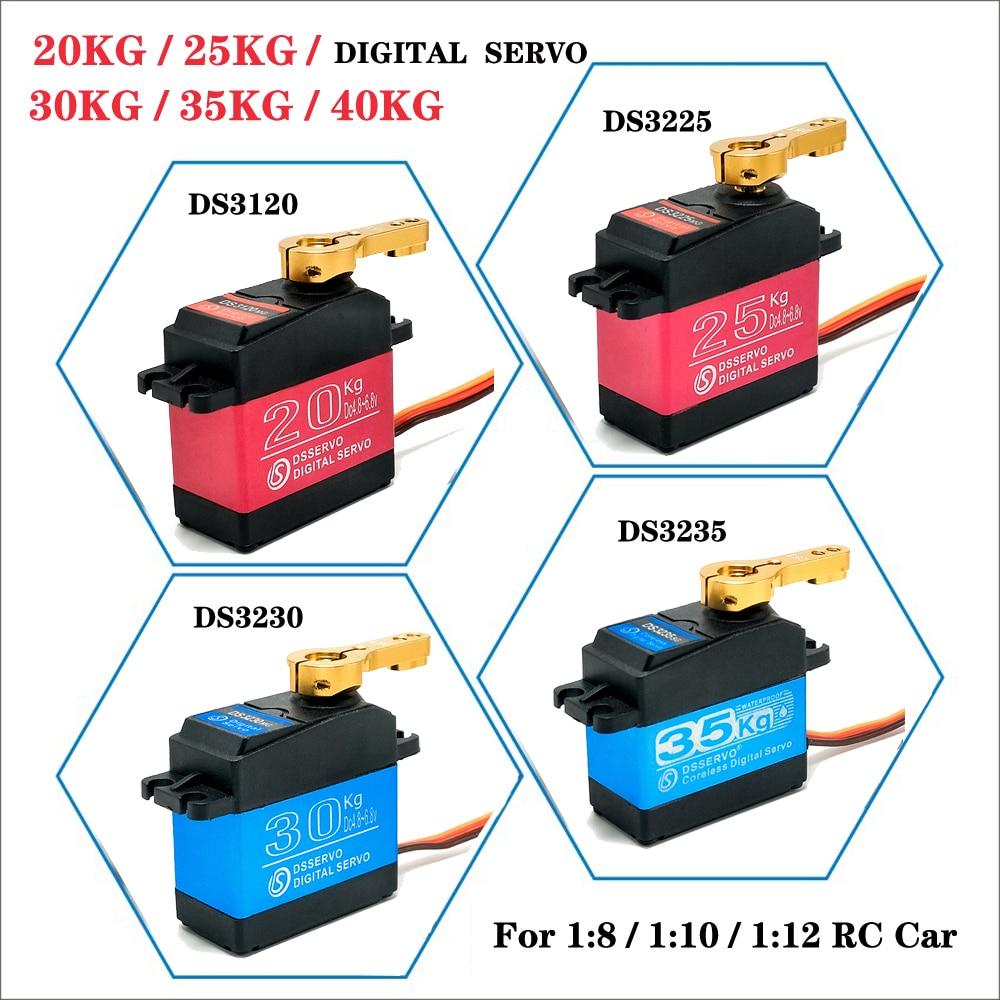 DSservo 180/270 Degree20KG25KG30KG35KG40KGLarge Torque full metal gear Digital RC Servo For 1/8 1/10 RC Car