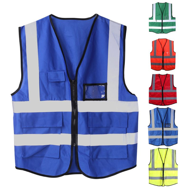 Hi-Visibility Safety Reflective//Breathable Security Reflector Tape Vest//Set 5