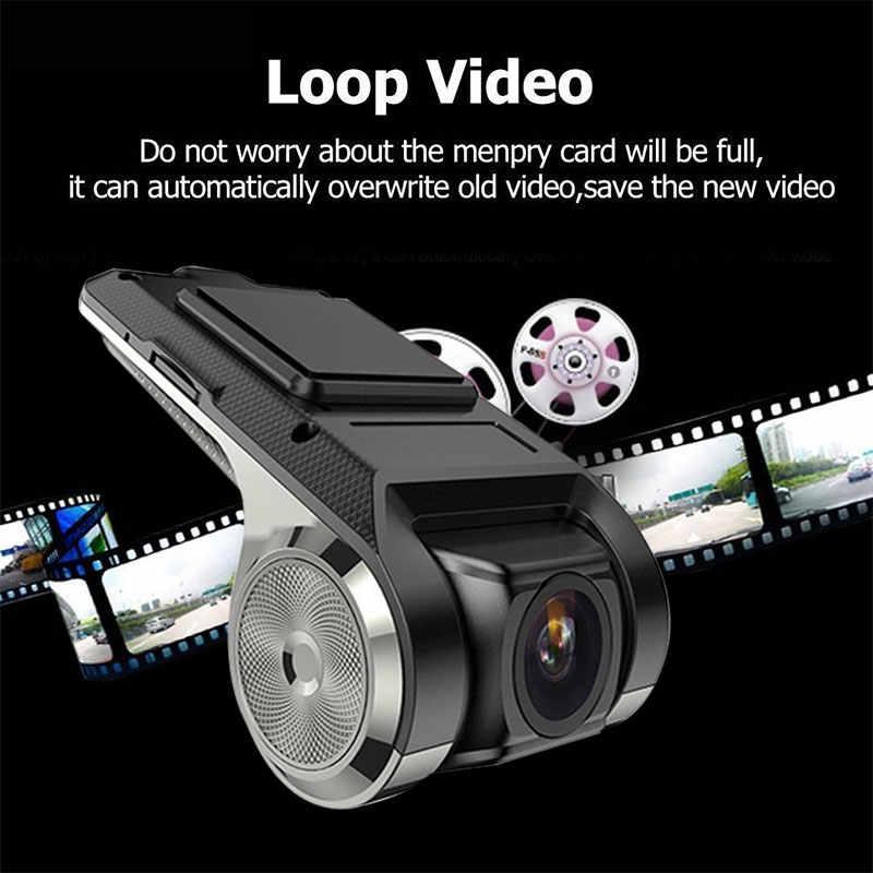 USB واي فاي مخفي مسجل فيديو رقمي صغير كاميرا مسجل داش كام 1080P ADAS للرؤية الليلية مسجل فيديو رقمي للسيارة أندرويد الملاحة