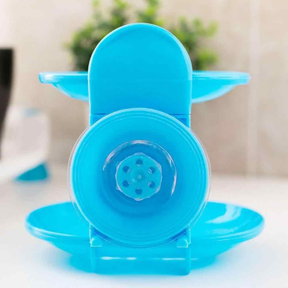 Modne podwójna warstwa domu mydło łazienkowe wieszak na naczynia stojak na mocna przyssawka typu kosz na mydło organizer z tacką
