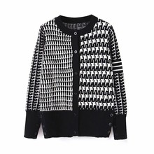 Women Fashion Striped Print Long Sleeve Top Plaid O Neck Sweater Blouse Coat Edge Jackets Ladies Fringe Zip-up Lace Outwear 9.3 fringe detail striped glitter mesh top