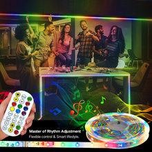 RGB RGBWW LED Strips Lights Bluetooth Luces Led RGB SMD 2835 Flexible NON Waterproof Tape Diode 5M 10M 15M 20M 25M 30M Remote Co