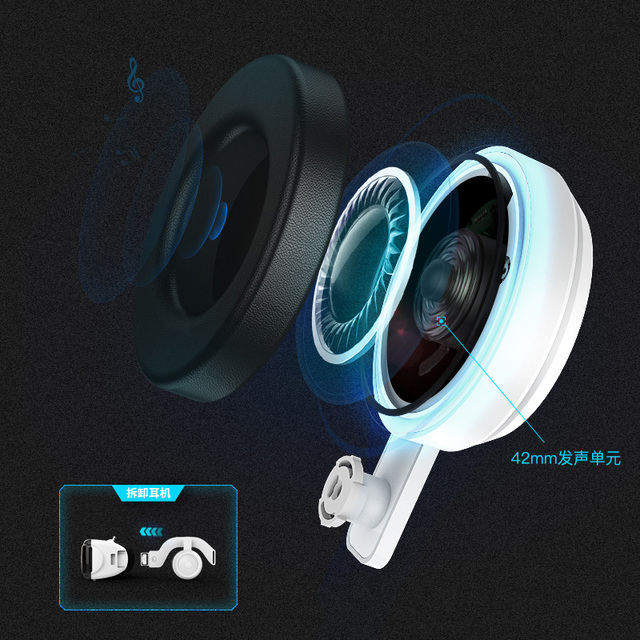 VR SHINECON G06E Mini VR Glasses 3D G 06E Glasses Virtual Reality Glasses VR Headset For Google cardboard with headphone 5