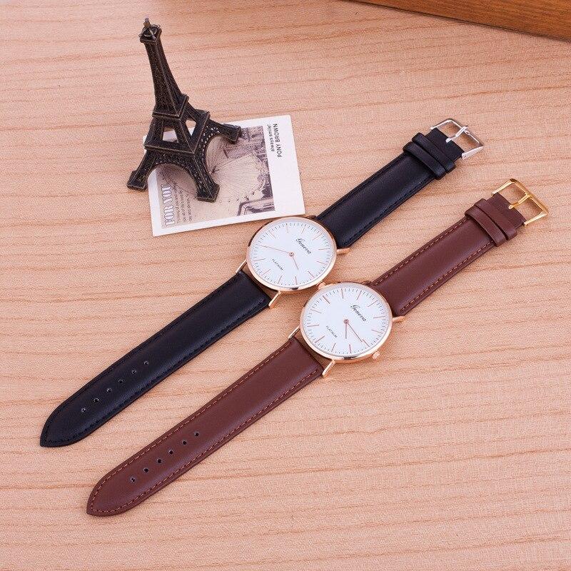 100pcs/lot Couple Watches For Lover Gift Men Women Watch Geneva Female Male Clock Quartz Watch For Couple Saat Relogio Wholesale