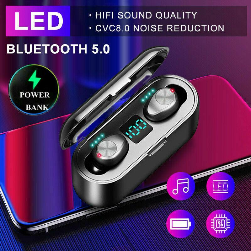 2020 HOT Digital Display Bluetooth 5.0 TWS Earphone Wireless Earphones Stereo Sport Wireless Headsets Power For IPhone Xiaomi