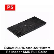 Miễn Phí Vận Chuyển P5 Trong Nhà SMD2121 1/16 Scan Full Màn Hình Hiển Thị LED Module 320X160Mm, p5 Video Bảng Điều Khiển 64X32 Chấm Bi