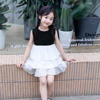 Cute Girls Dress 2019 New Summer Girls Clothes Flower Princess Dress Children Summer Clothes Baby Girls Dress Casual Wear 3 8 Y