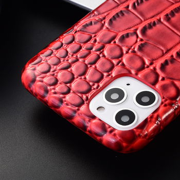 3D Touch PU Leather Case for iPhone 11 Pro Max 6 6S Plus 7 7Plus 8 XR XS 11Pro SE2 Phone Cover Crocodile Texture Glossy image