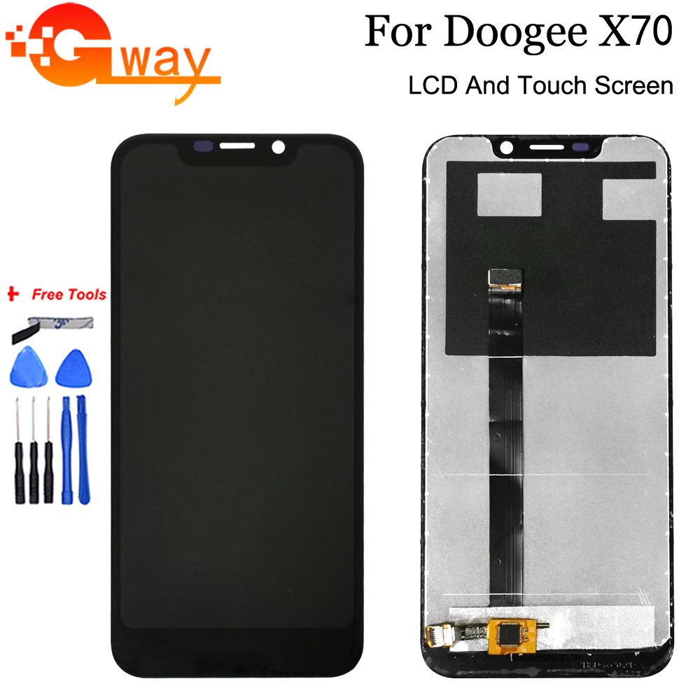 For 5.5 inch Doogee X70 LCD Display+Touch Screen Panel 100% Tested Screen Digitizer Assembly Replacement With Free Tools