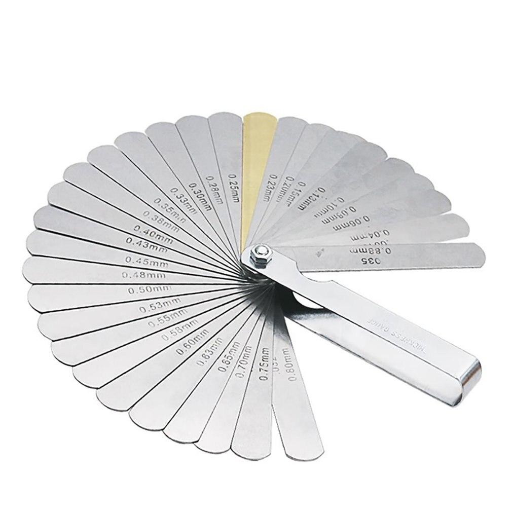 32 pçs/pçs/set lâminas de espessura universal gage conjunto métrica calibre de vedação de aço inoxidável alta precisão ferramenta medição lacuna