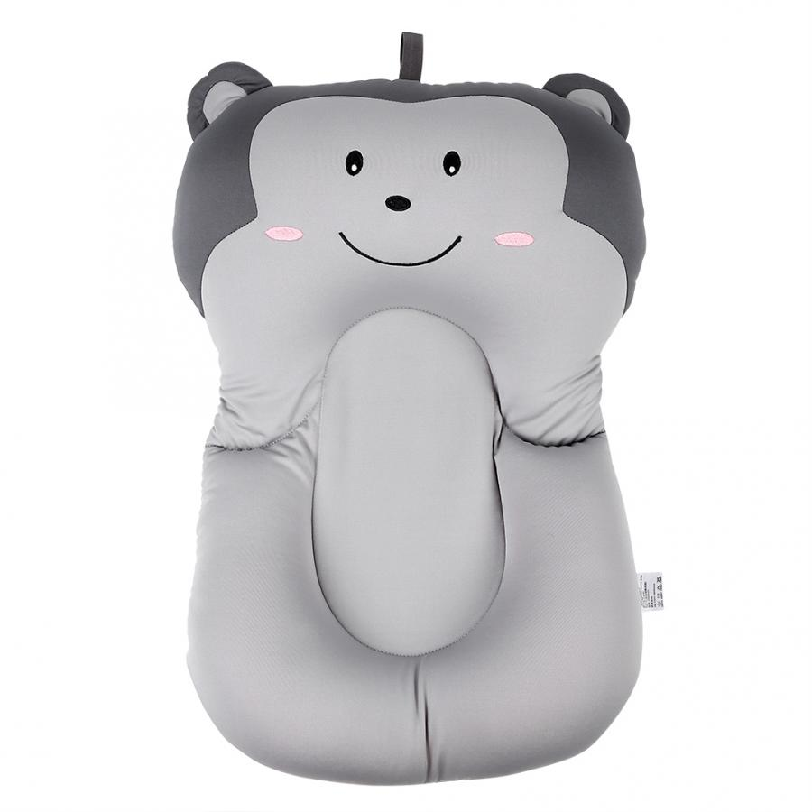 Мягкий коврик для ванной для новорожденного малыша, нескользящий коврик для ванной, подушка для ванной, надувная подушка - Цвет: Grey Monkey