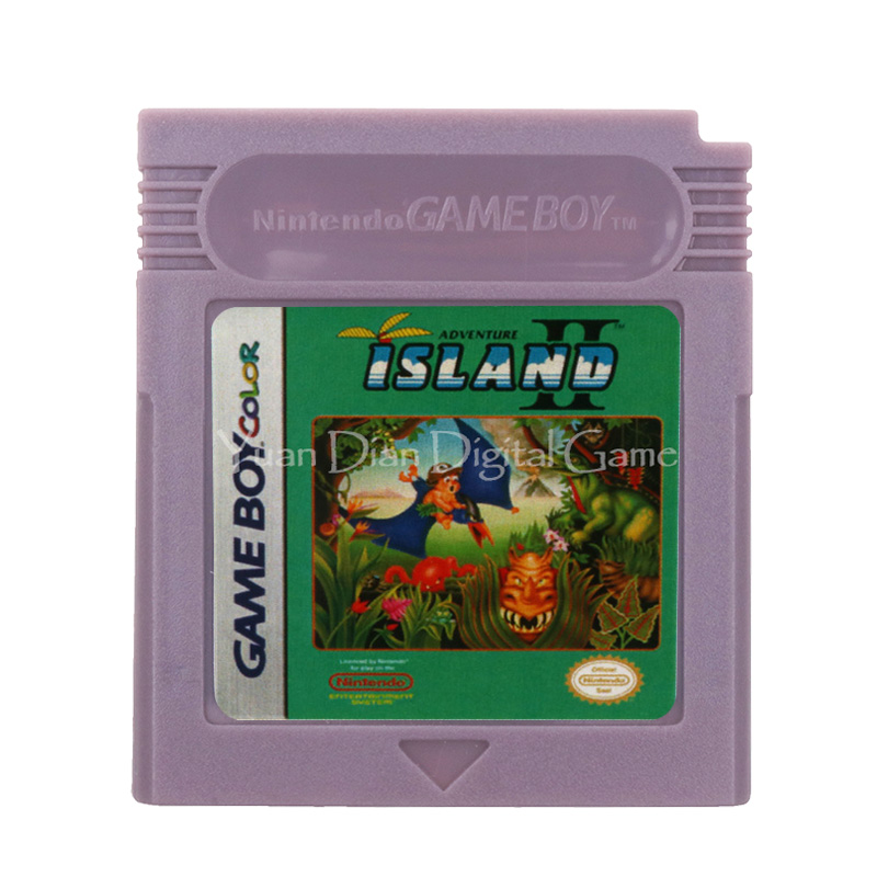 For Nintendo GBC Video Game Cartridge Console Card Adventure Island II English Language Version
