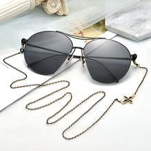 1 шт мужские и женские винтажные очки с металлической цепочкой