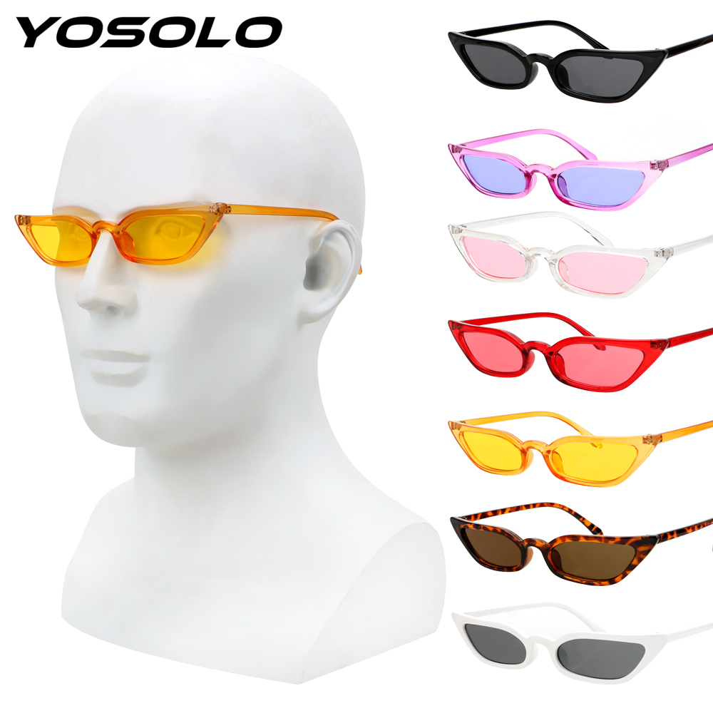 YOSOLO Motorcycle Glasses Riding Driving Eyewear Protective Gears Retro Small Frame Goggles Vintage Cat Eye Sunglasses UV400