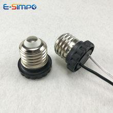 Base de lámpara de luz LED E26 con cable sin conector