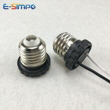 E26 LED למטה אור מנורת בסיס עם חוט ללא מחבר