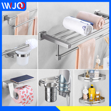 Towel Holder Set Stainless Steel Towel Rack Hanging Holder Double Towel Bar Bathroom Shelf Corner Toilet Paper Holder Robe Hook stainless steel towel bar sets brushed gold towel holder towel rack hanging holder toilet paper holder coat hook bathroom shelf