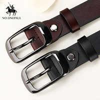 NO. ONEPAUL femmes en cuir véritable mode rétro ceinture de haute qualité marque de luxe dames en métal double boucle nouvelle ceinture avec jean