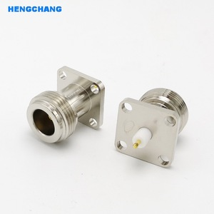 Image 1 - Bakır N tipi N dişi RF koaksiyel adaptör konnektörü 17.5x17.5mm N tipi Panel montaj şasi konnektörü 10 adet/grup