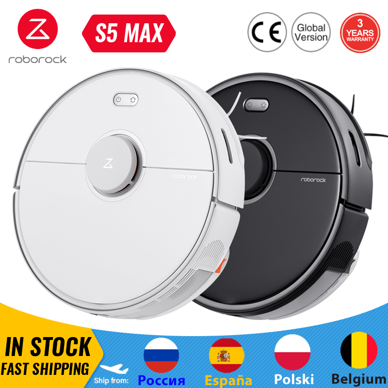 Roborock S5 Max Robot Vacuum Cleaner WIFI APP Control Automatic Sweep Dust Sterilize Smart Planned Washing Mop Upgrade of S50