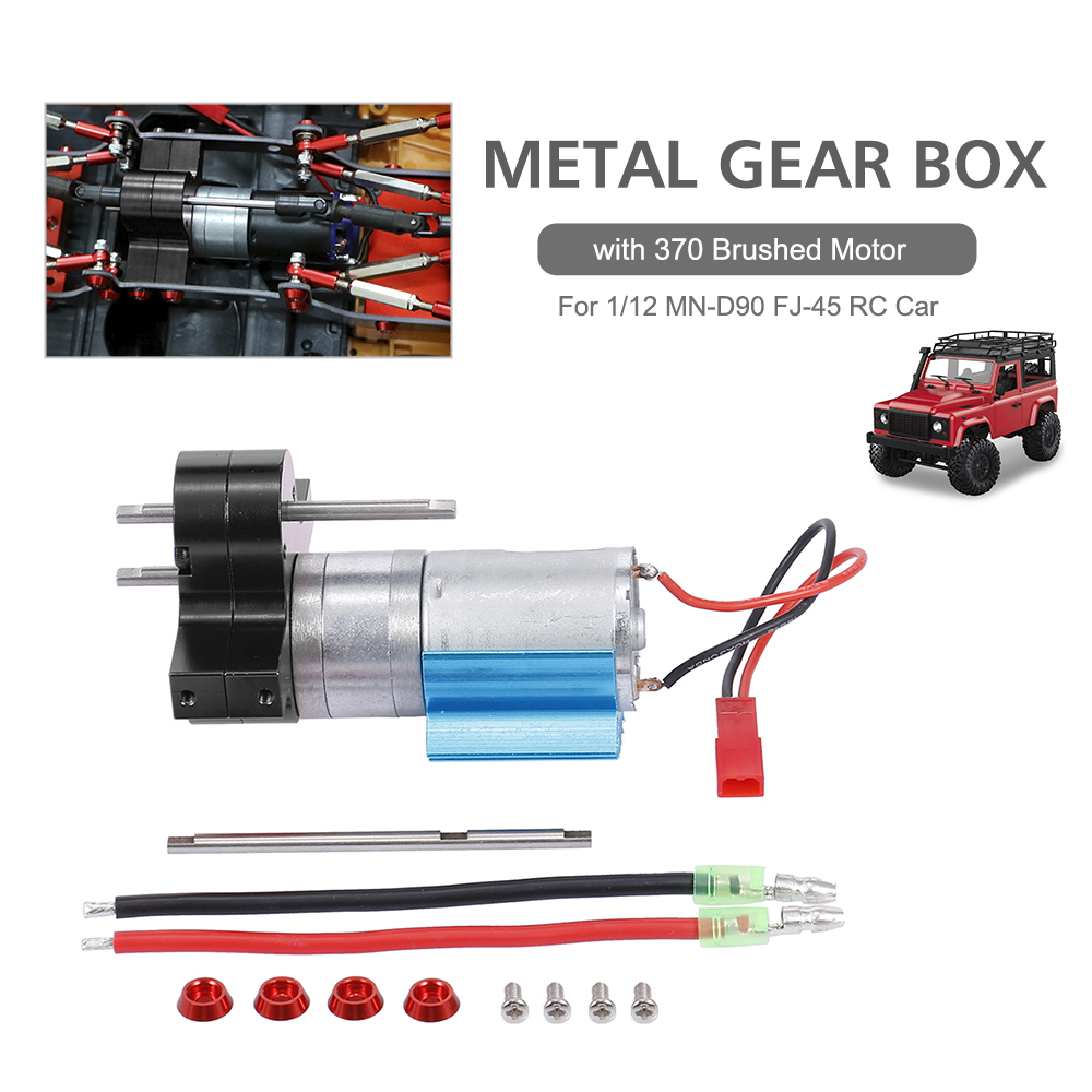 Details about  /RC Car Gearbox Metal Brushed Motor Gearbox for 1//12 MN-D90 FJ-45 RC Cars Parts