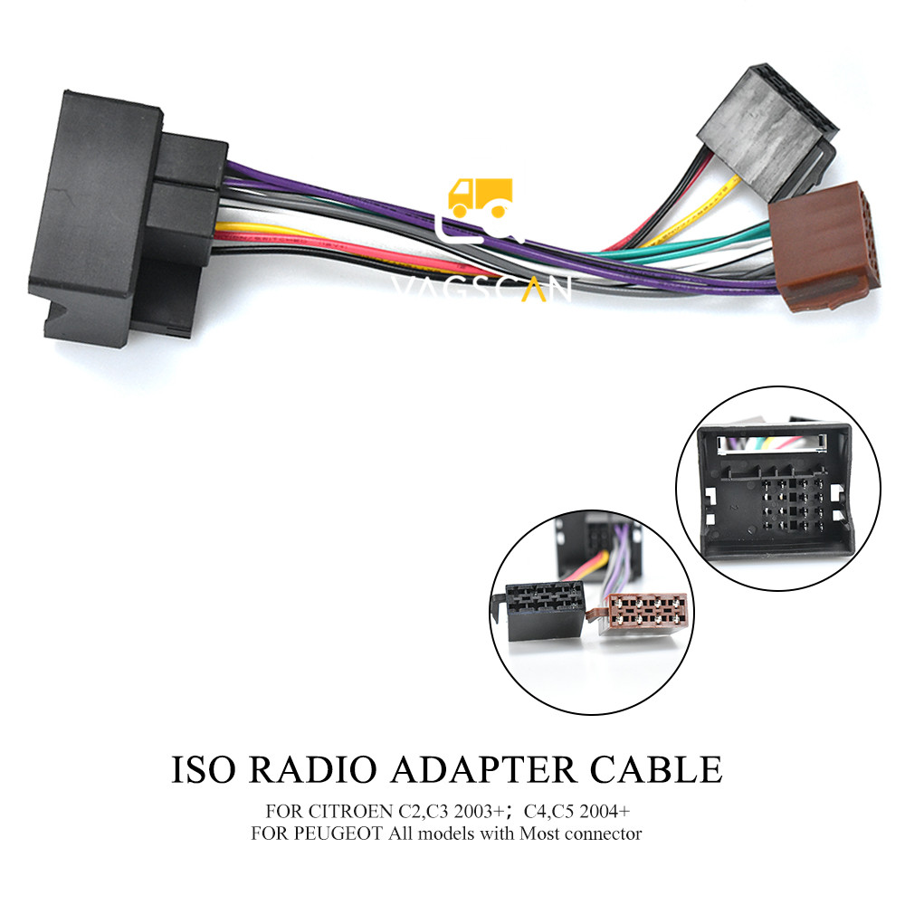 12 026 Car Stereo ISO Wiring Harness Car Radio Adapter For PEUGEOT all  Models for CITROEN 2003+|Cables, Adapters & Sockets| - AliExpress | Citroen Wiring Harness |  | AliExpress