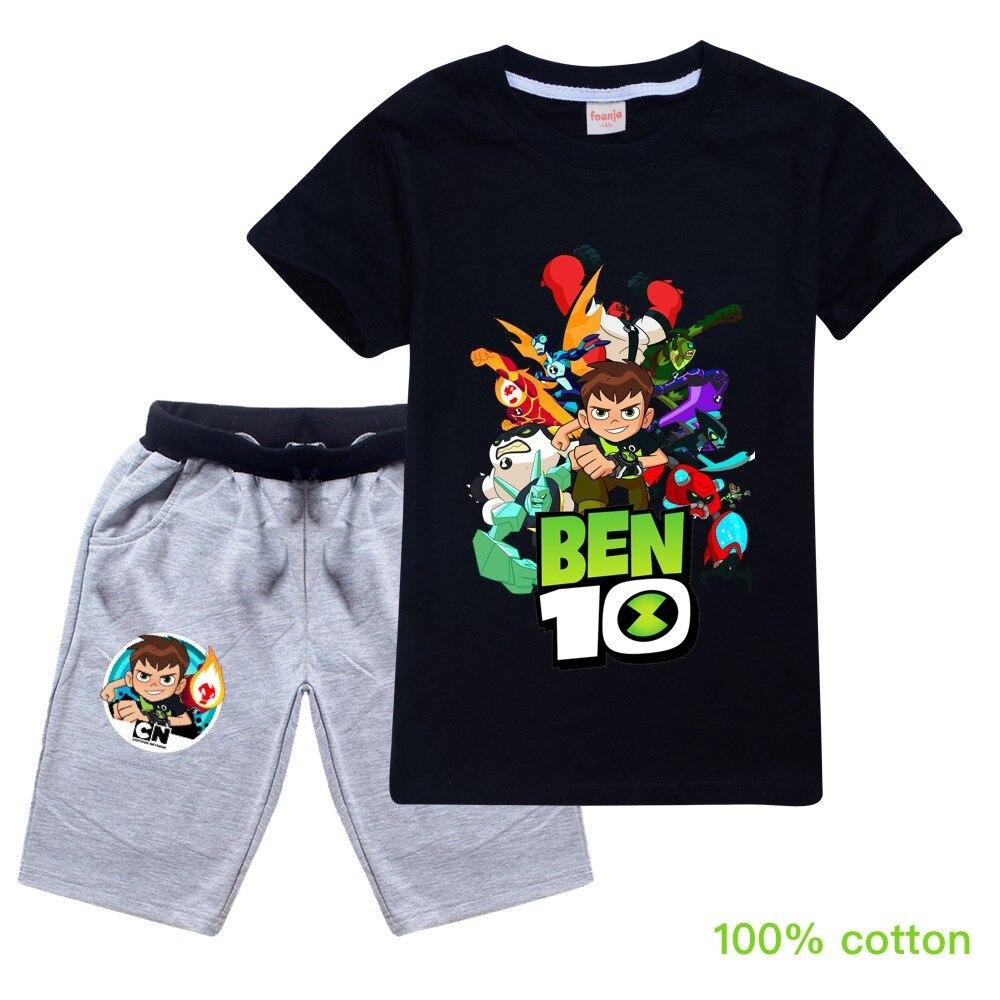 ben10 2019 Summer autumn Boys Pajamas Suits Short Sleeve Kids Pijama Children Pyjama Sets Boys Sleepwear bottom Clothing Unisex 1