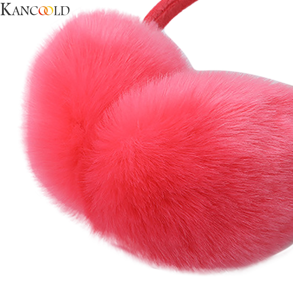 KANCOOLD Winter Warm Cute Plush Antlers Ears Design Winter Warm Adjustable Earmuffs Outdoor Protect Ears Winter Accessories