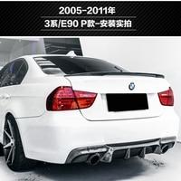 For bmw E90 spoiler E90 and E90 M3 carbon fiber rear trunk spoiler 318i 320i 325i 330i 2005 2011 E90 sedan rear wing