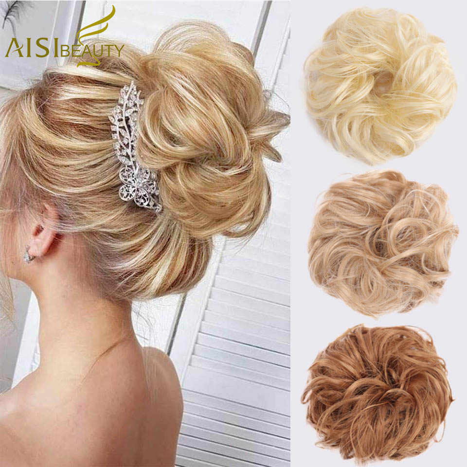 Synthetic Hair Chignons Elastic Scrunchie Extensions Hair Ribbon Ponytail Bundles Updo Hairpieces Donut Bun For Brides Women Synthetic Chignon Aliexpress