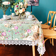 Proud Rose Pastoral Lace Table Cover European Round Printed Cloth Coffee Covers Towel TV Cabinet
