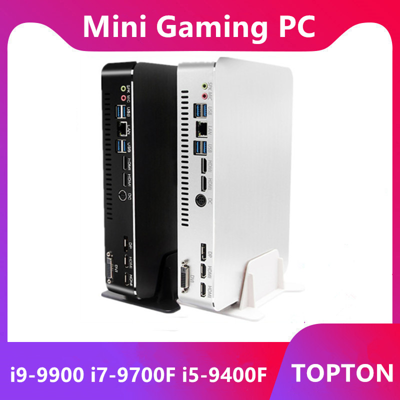 2019 Mini Gaming PC Level I9-9900 I7-9700F I5-9400F GTX1050TI 4G GPU Win10 Micro Desktop Computer NVMe 2*HDMI2.0 DVI DP AC WiFi