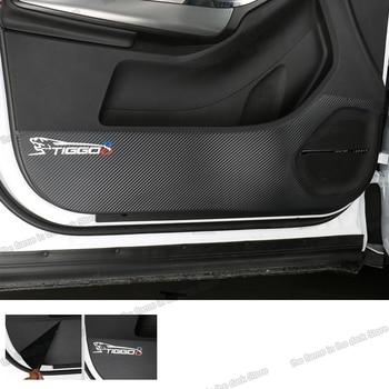 Lsrtw2017 Carbon Fiber Car Inner Door Anti-kick Sticker for Chery Tiggo 8 2018 2019 2020
