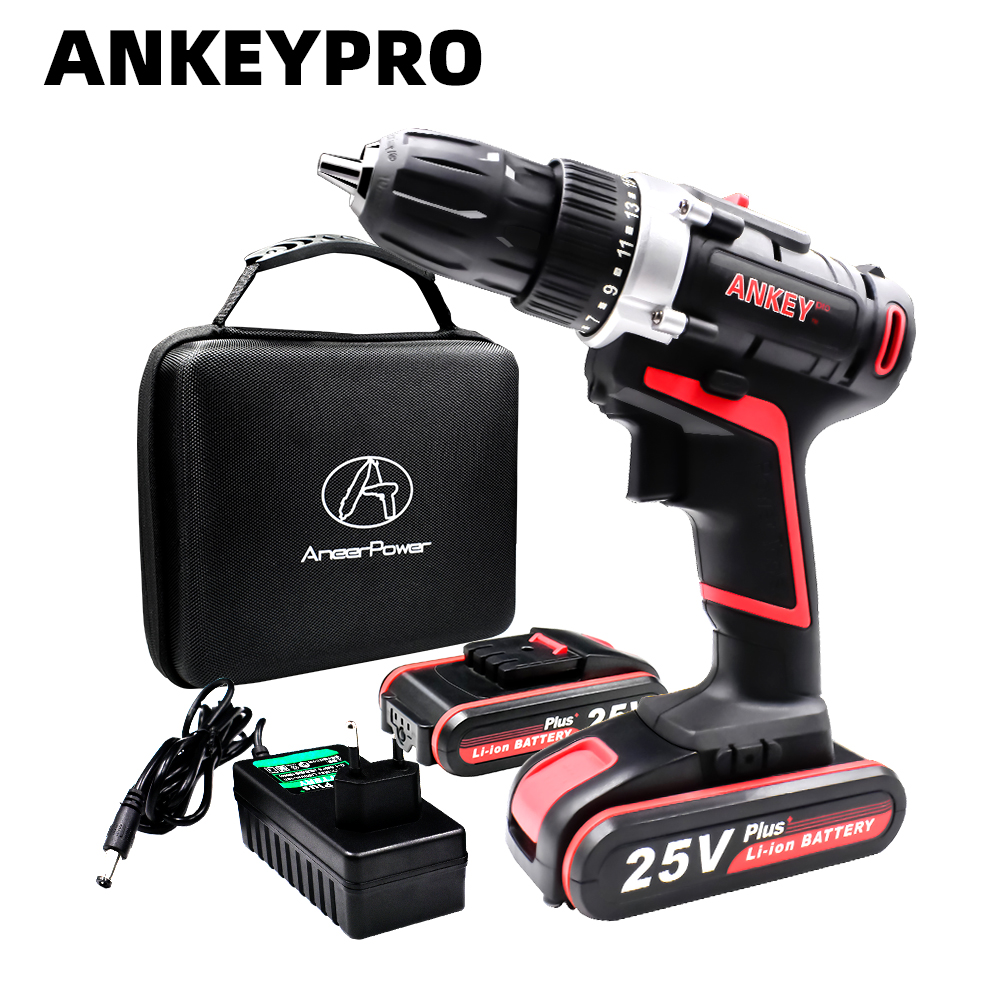 25V Plus Electric Drill Power Tools Screwdriver Cordless Mini Battery Drilling Screwdriver Tool Electric Rotary Drill Hand Bit