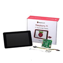 Raspberry Pi Monitor de pantalla táctil LCD TFT de 7 pulgadas, Original, con pantalla protectora de 800x480, Kit de soporte