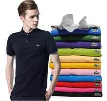 Marca quente das mulheres dos homens polo camisa de verão manga curta clássico homme roupas casuais luxo designer topos a0001