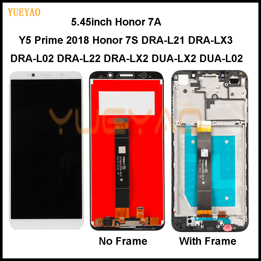 Display For Huawei Y5 Prime 2018 LCD Display Touch Screen New Honor 7S DUA-L22 DUA L02 L22 LX2 For Huawei Honor 7A LCD Screen