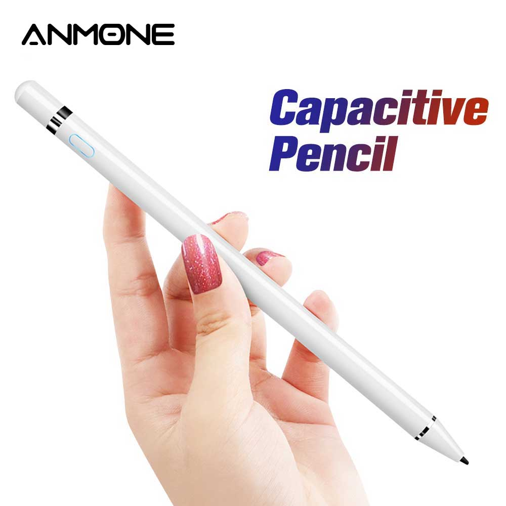 ANMONE Active Stylus Touch Pen For Apple IPad Pro 11 12.9 10.5 9.7 Smart Capacitive Screen Pencil For Xaiomi Redmi Note 7 Tablet