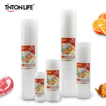 TINTON LIFE Food vacuum sealer Storage saver bags Vacuum Plastic rolls 5 size Bags For Kitchen Vacuum Sealer to keep food fresh - DISCOUNT ITEM  50 OFF Home Appliances