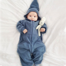 Baby Rompers Cute Overalls Newborn Toddler Boys Girls Clothes Infant Bebes Jumpsuit Long Sleeve Hooded Kids Outfits Autumn A376 cheap babzapleume COTTON Polyester Acrylic CN(Origin) Spring Autumn baby unisex 0-6m 7-12m 13-24m Solid zipper Full Fits true to size take your normal size
