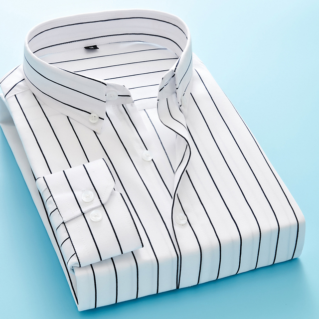 Men's Shirt 2020 Fashion Casual Stripe  Casual Quality Men Striped Shirt Men's Fashion