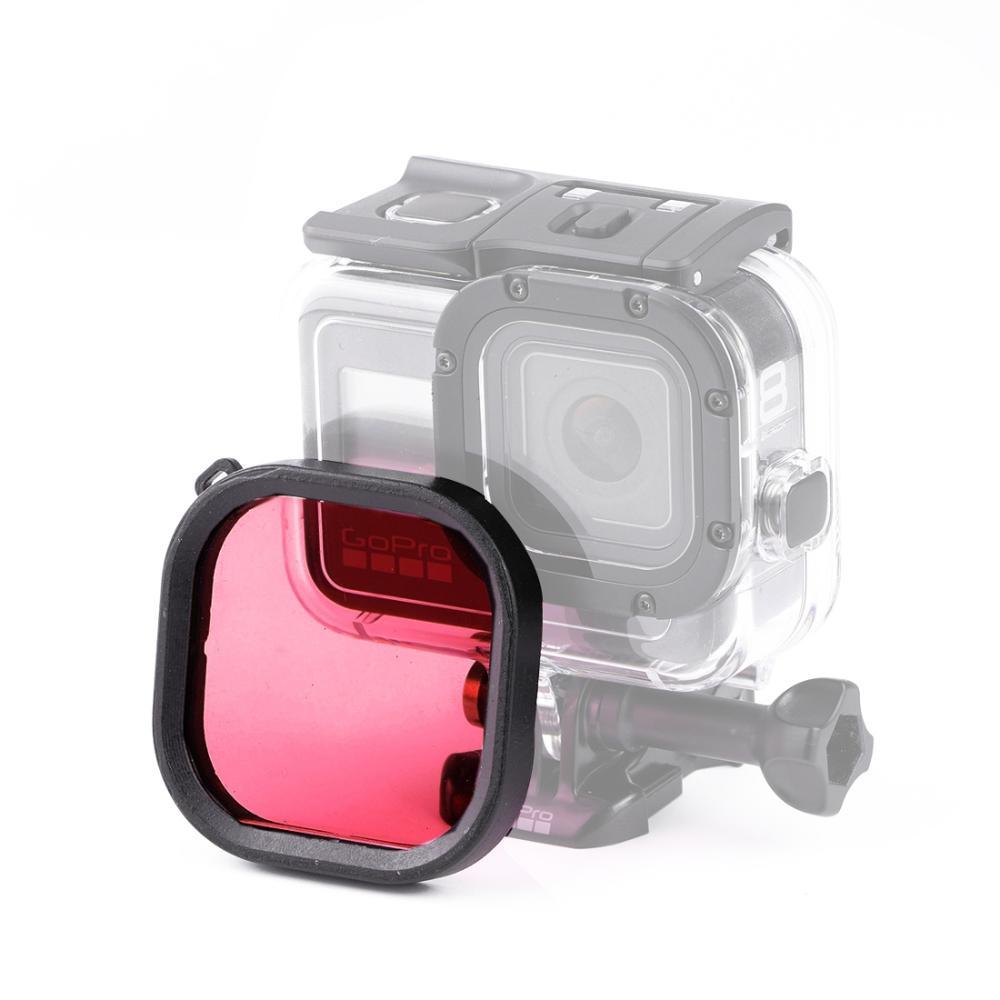 Pink Lens Accessories Camera Lens Filter Square Housing Diving Color Lens Filter for GoPro HERO8 Black Color : Pink