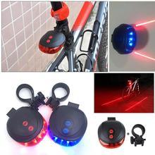 Światło rowerowe 5 led + 2 laserowe tylne światło rowerowe Taillight siedem trybów rowerowe światła tylne rower MTB lampa akcesoria rowerowe tanie tanio Aubtec EQ07 FRAME Baterii