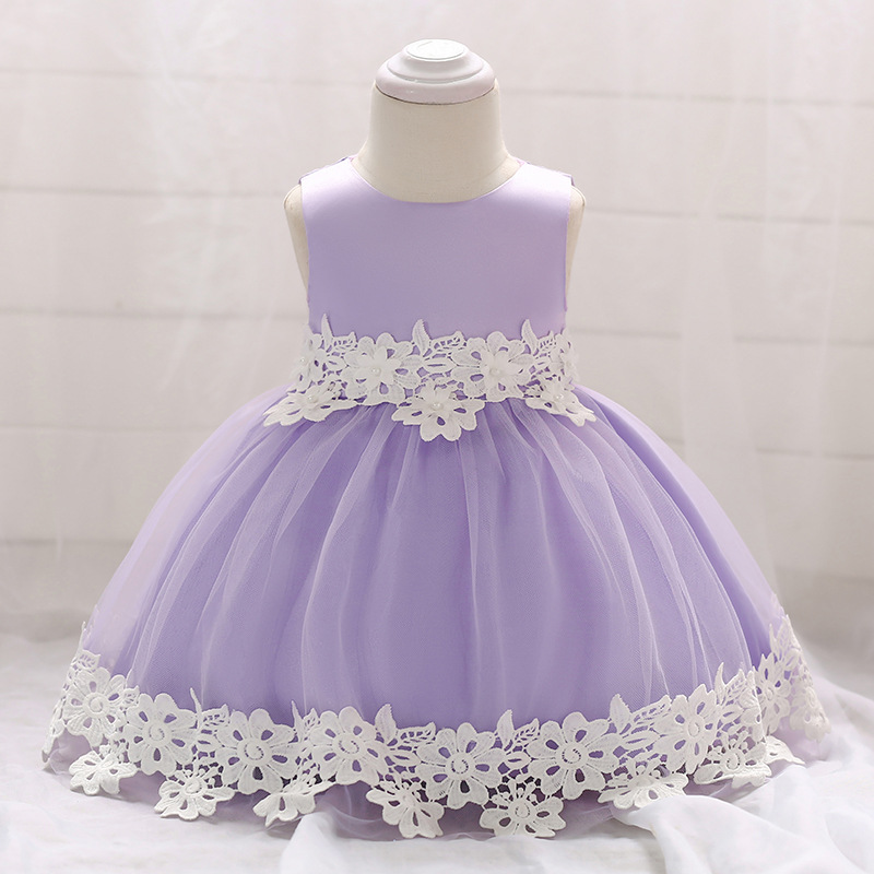 1-3T Cute Colorful Baby   Flower     Girl     Dress   For Wedding Party Applique Puffy Floor Length   Flower     Girl     Dresses