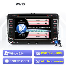 2 din Android 9 car multimedia player GPS navigation DVD stereo radio for Volkswagen golf Passat B6 polo sedan Tiguan jetta(China)