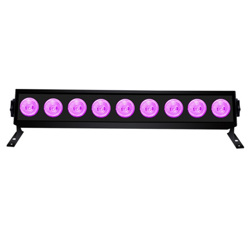 9 LED UV Party Disco Christmas Bar Black Lamp UV Violet Wall Washer LED Stage Effect Lights Blacklight Spot Light For Birthday U