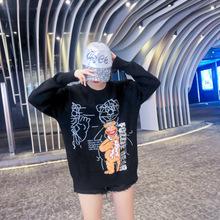 Cekiny T koszula luźne brytyjska flaga T Shirt Hip Hop odzież damska długi T-shirt T-shirt dla nastolatek Flash świecidełka t Shirt klub tanie tanio NoEnName_Null Poliester Cekinami Tees Letter Topy Połowa REGULAR Suknem Kobiety O-neck Casual