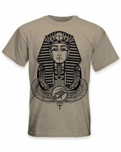 Egyptian Pharoah With Winged Ankh Symbol Men's T-Shirt - Egypt Pagan Cotton Tee Shirt Summer O Neck Tops(China)